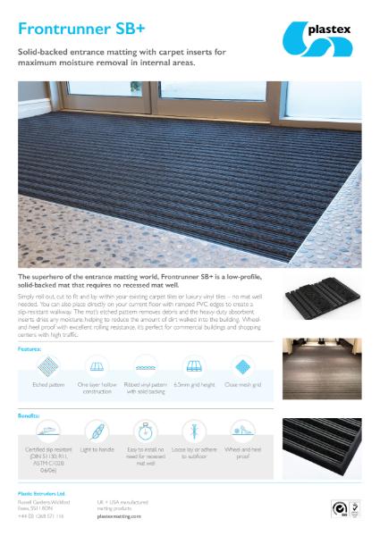 Plastex Frontrunner SB Plus Datasheet