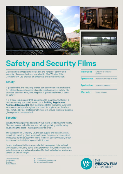Film Types - Safety and Security Films
