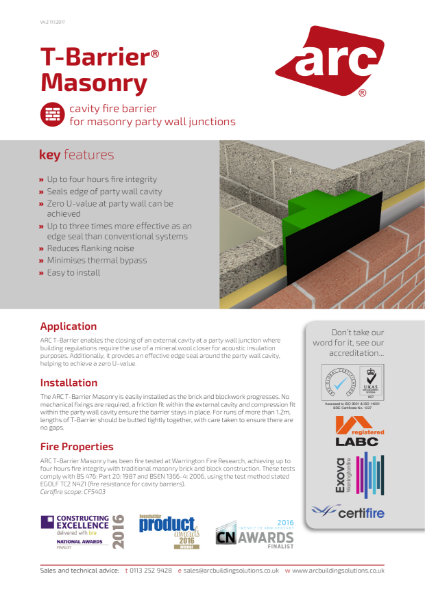 ARC T-Barrier Masonry