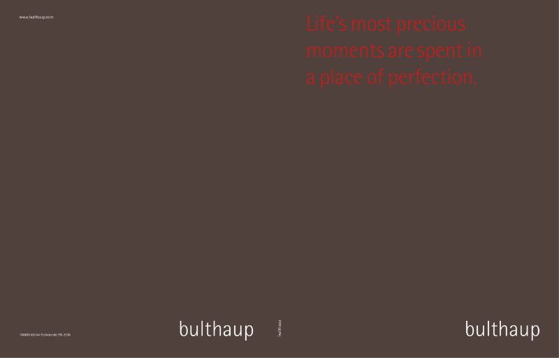 bulthaup Introductory Brochure