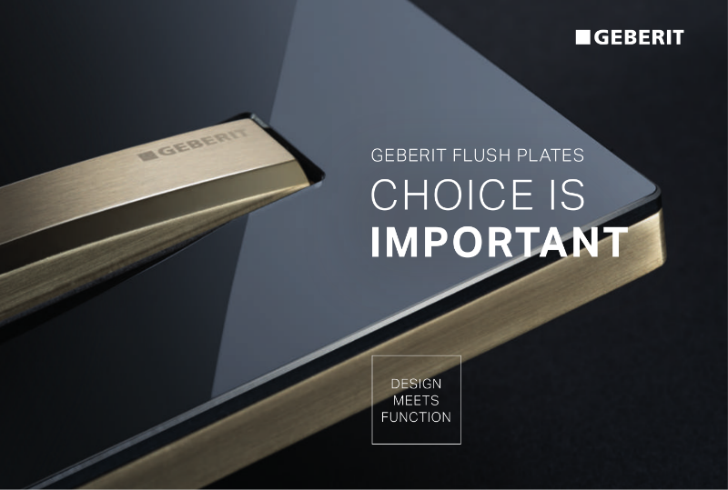 Geberit Flush Plates - Choice is Important