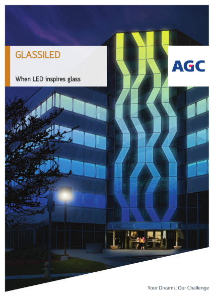 Glassiled, architectural glazing with embedded LED by AGC