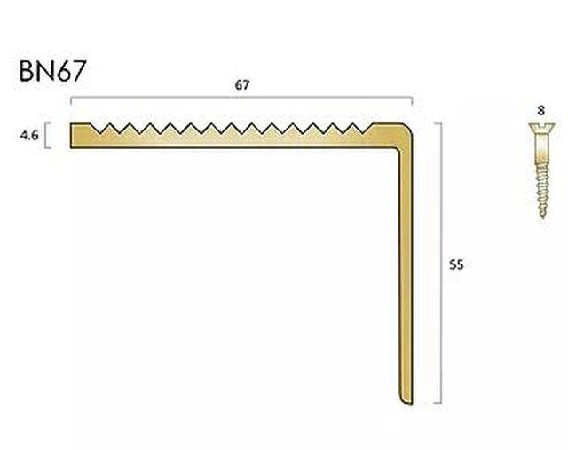BN67 Brass Stair Nosings