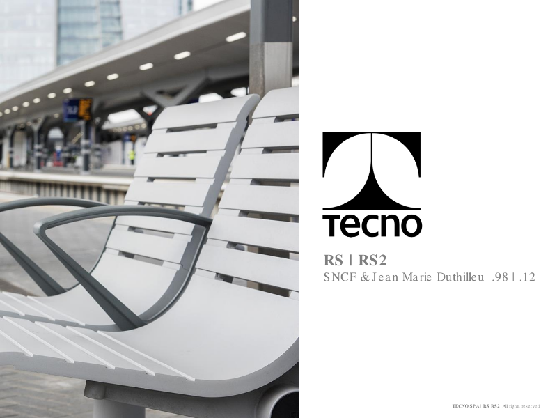 Tecno - RS  RS2 public seating