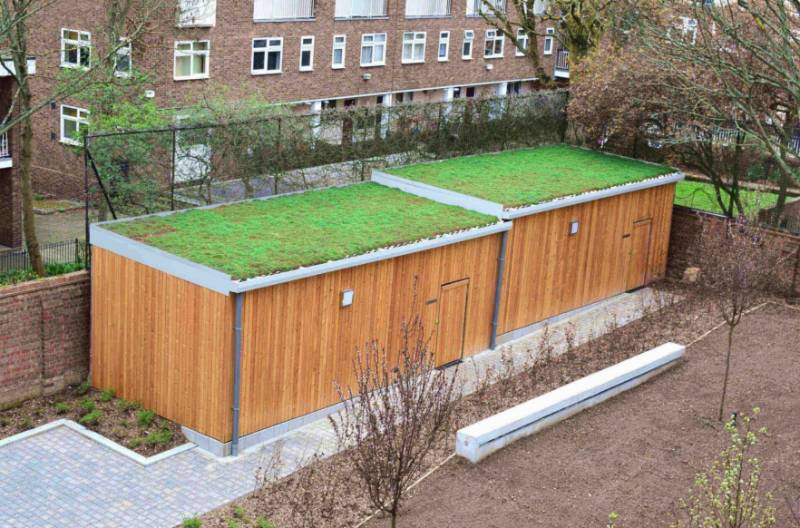 Dalmeny Avenue – Bespoke Sedum Roof Shelter