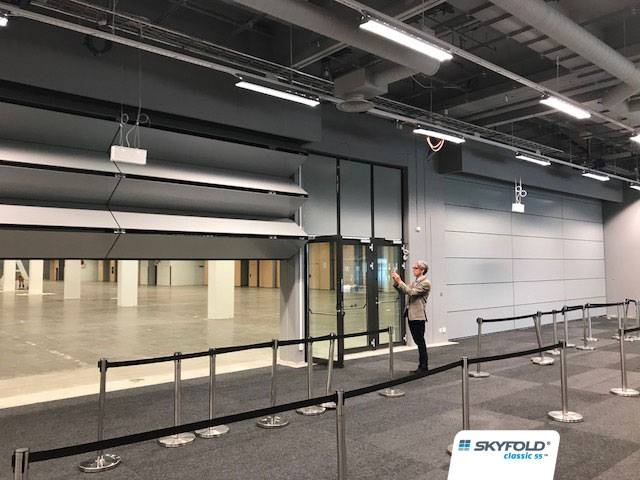 FIVE SKYFOLD WALLS SHOWCASED AT SWEDISH EXHIBITION CENTRE