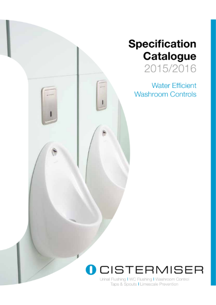 Cistermiser Specification Catalogue 2015/2016