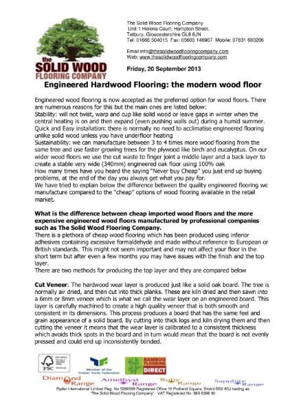 Comparing Cut & Sliced Veneered Hardwood Floors