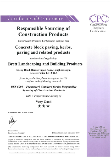 BES 6001 Certification
