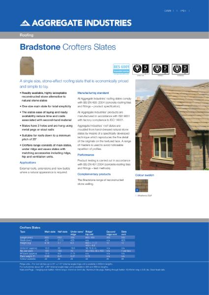 Bradstone Crofters Roofing Slates