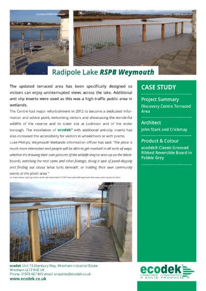 ecodek® Case Study - RSPB Reserve, Weymouth.