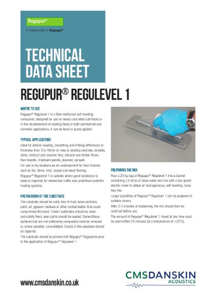 CMS Danskin Acoustics Regupur Regulevel 1 TDS