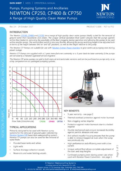 Newton CP Pumps