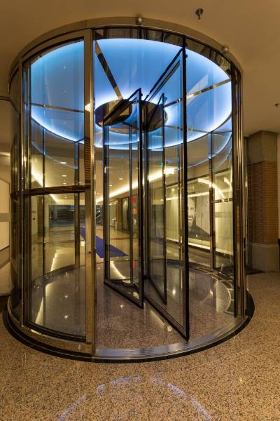 30 Minute Fire Rated Revolving Door. The Heuvel Shopping Mall, The Netherlands