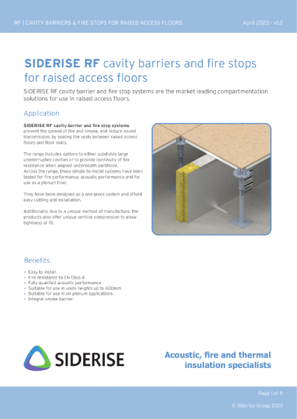 Raised access floor fire barriers v1.2