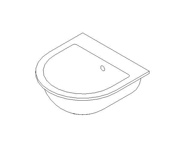 Countertop mounted wash basin
