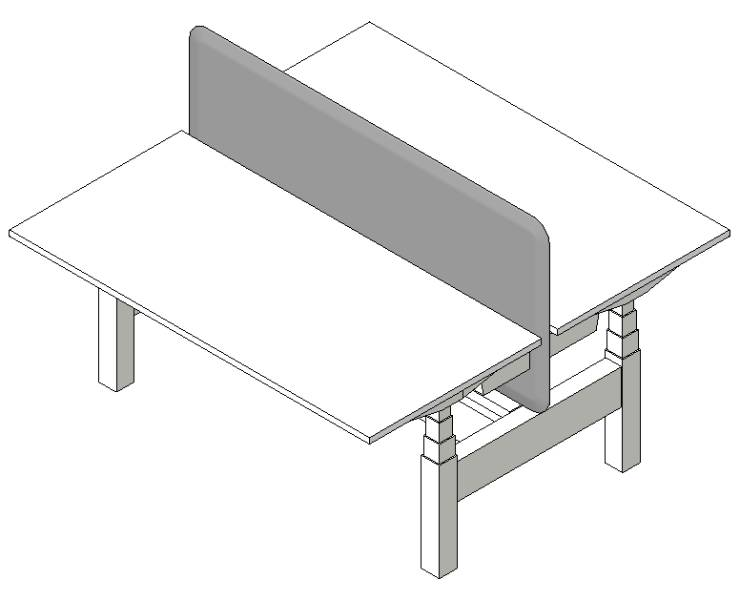 Work2.1 Sit-Stand Double Row Workstation 1600mm