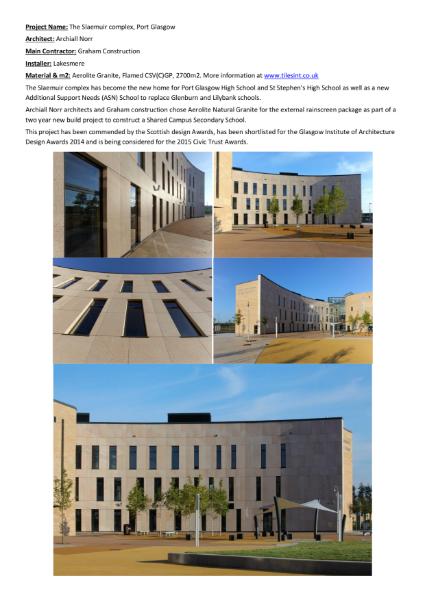 Granite Cladding - Case Studies - Aerolite Granite Rainscreen Cladding