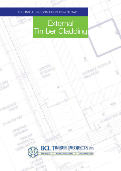 BCL External Timber Cladding Systems - Technical Summary