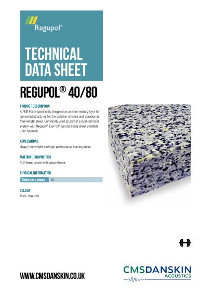 CMS Danskin Acoustics Regupol 40-80 TDS