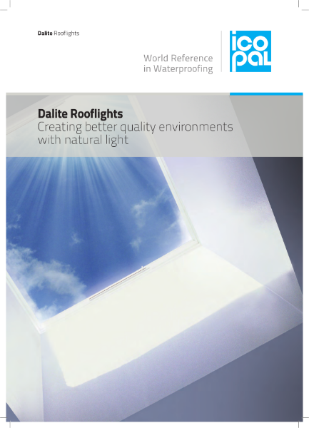 Icopal Dalite Rooflights for Natural Light and Light Distribution