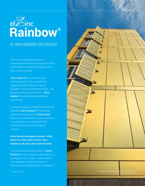 elZinc Rainbow Zinc Brochure