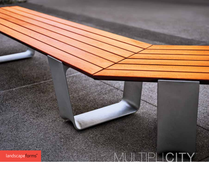 Landscape Forms MultipliCity Street Furniture Collection