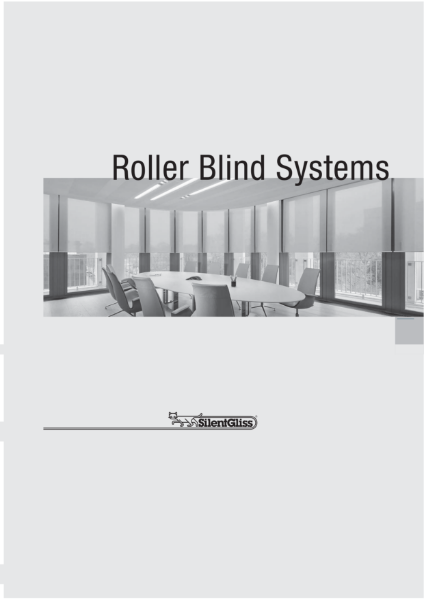 Roller Blind Systems by Silent Gliss