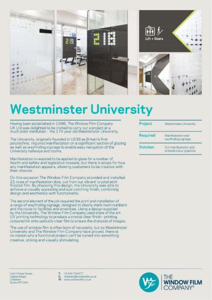 Case Study - Westminster University