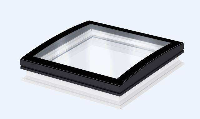 CFP Fixed flat roof window, curved glass