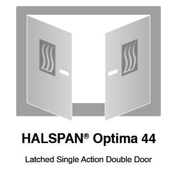 HALSPAN® Optima 44 mm Internal Fire Rated Door Blank - Latched Single Acting Double Doors