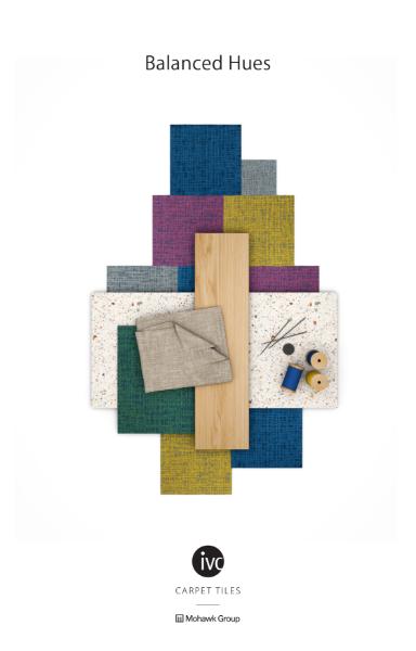 Balanced Hues Carpet Tile Collection