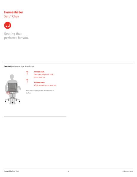 Setu Chair - Adjustment Guide
