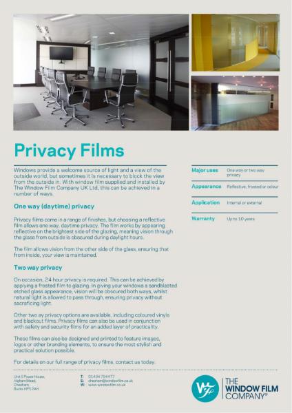 Film Types - Privacy Films