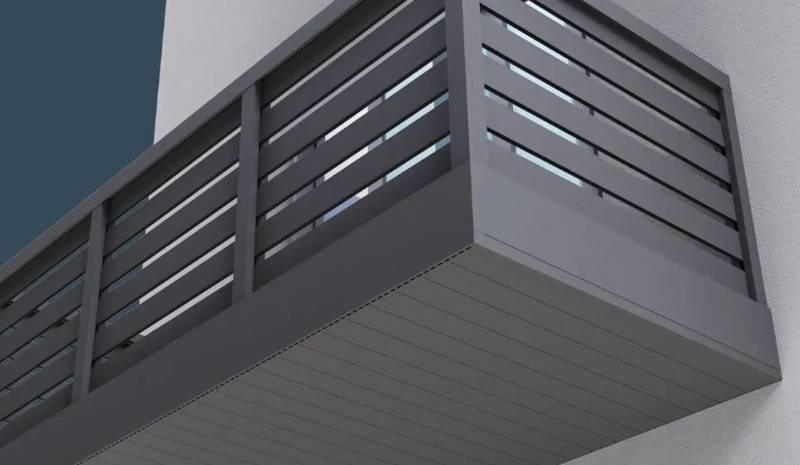 AliClad Flow Balcony Soffit Cladding from AliDeck