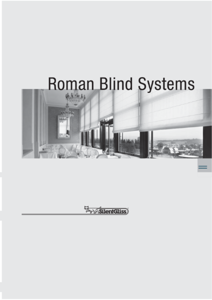 Roman Blind Systems by Silent Gliss