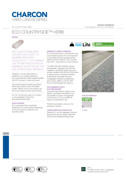 Charcon Eco Countryside® kerb