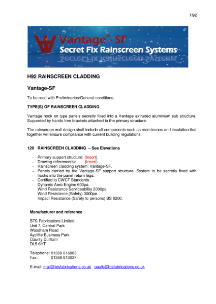 BTS Fabrications Secret Fix Rainscreen System