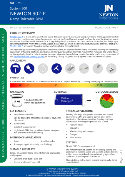 Newton 902-P Data Sheet