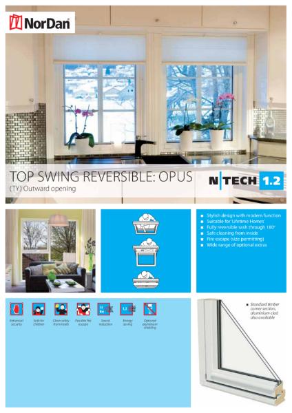 NorDan Top Swing Reversible Windows: Opus
