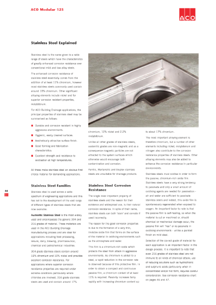 ACO Stanless Steel explained