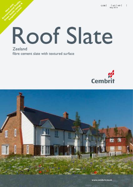 Roof Slate: Zeeland fibre cement slate