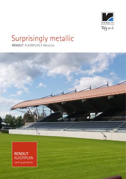 RENOLIT ALKORPLAN Metallics waterproofing membrane single ply - Copper Brown
