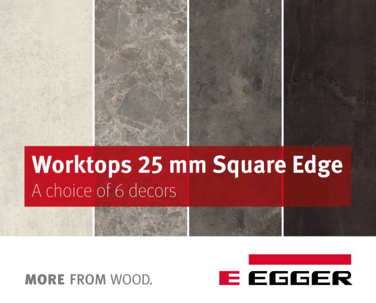 EGGER Worktops 25mm Square-edged