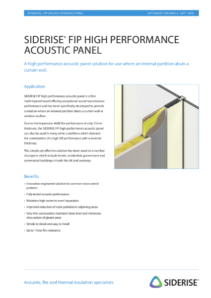 Acoustic panel for facade interface v4