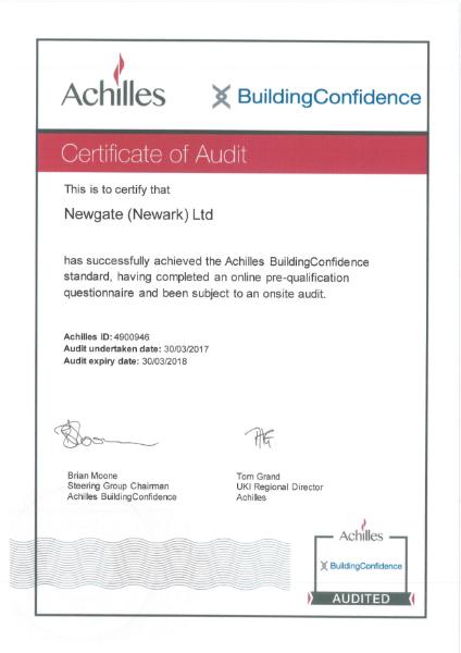 Achilles Building Confidence Certificate