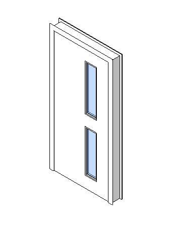 Internal Single Door, Vision Panel Style VP02