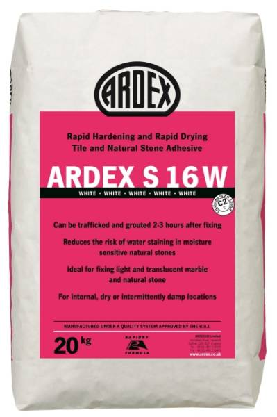 ARDEX S 16 W Natural Stone Floor & Wall Tile Adhesive