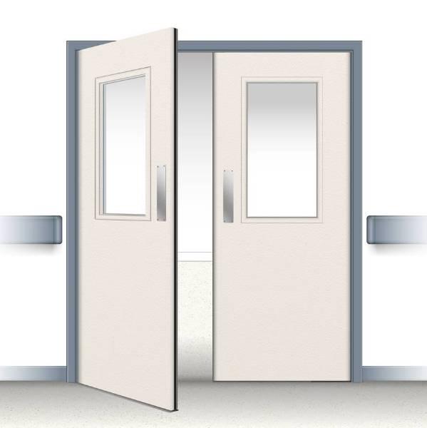 Postformed Double Swing Doorset - Vision Panel 13