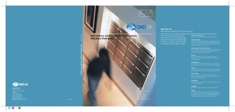 Mail Delivery Solutions for the 21st Century - One Piece Front Plate